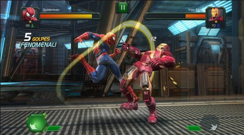 Screenshot De MARVEL Batalla de Superhéroes Para Android